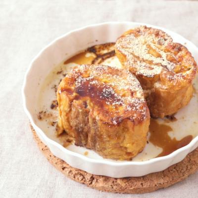 ヨーグルトで漬け込む 黒蜜きな粉フレンチトースト