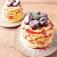 アメリカンチェリーのパンケーキ