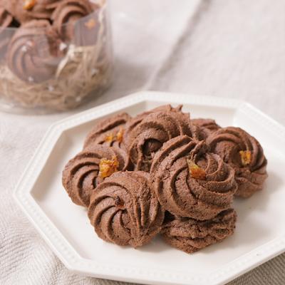 簡単ぱくっと絞り出しチョコクッキー