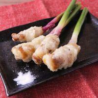 サクサク衣 葉生姜と豚バラ肉のフリッター