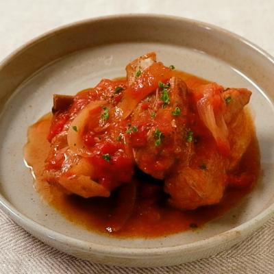 フライパンで作るスペアリブのトマト煮