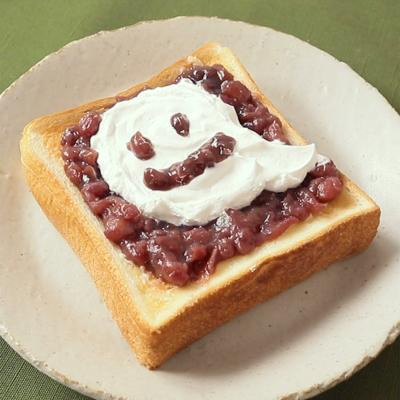 ハロウィンおばけの小倉トースト風