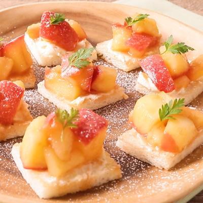 りんごとチーズのおつまみトースト