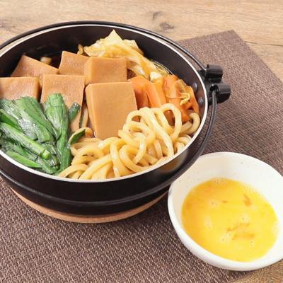 高野豆腐とうどんのすき焼き