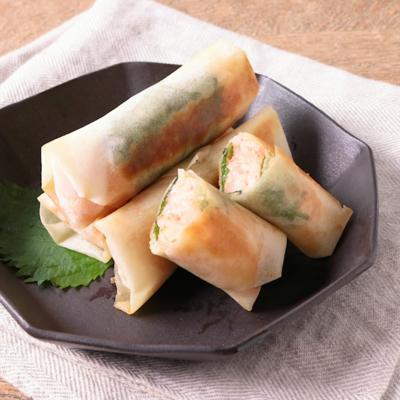 明太チーズのライス春巻き