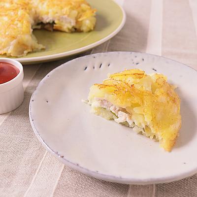 鶏ささみとチーズのガレットサンド