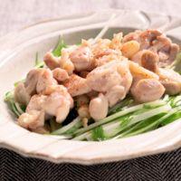 水菜と鶏もも肉の簡単塩焼き
