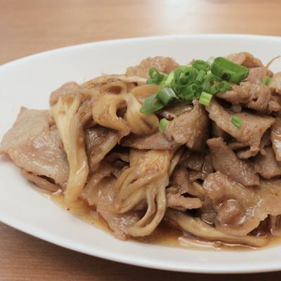 簡単 まいたけと豚バラ肉の炒め物