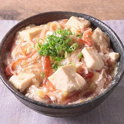 豆腐の中華あんかけ丼