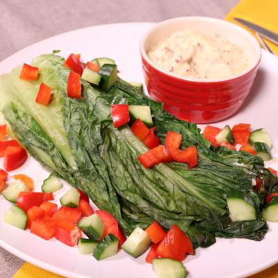 ロメインレタスの焼きサラダ