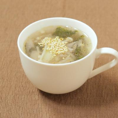 焼き海苔の中華風スープ