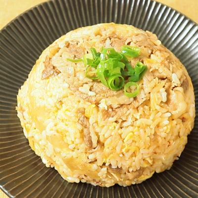 牛丼の具リメイク キムチチャーハン