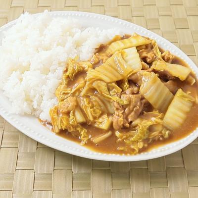 レンジで簡単 白菜と豚こまカレー
