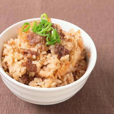 牛丼の具リメイク 旨味たっぷり炊き込みご飯