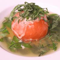 レンジで簡単!トマト丸ごとスープ