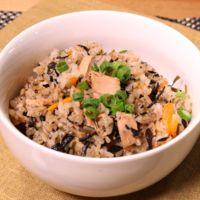 ツナとひじきの簡単炊き込みご飯