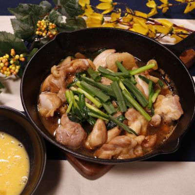スタミナ満点!スキレット鶏すき焼き
