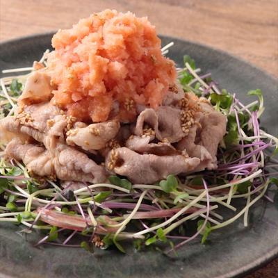 豚しゃぶの明太おろし のっけ盛りサラダ