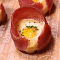 うずらの卵で!一口ベーコンエッグ