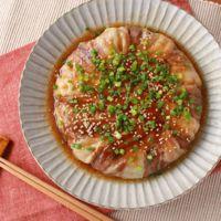 たっぷりエノキと豚バラ肉のどかーんとフライパン焼き