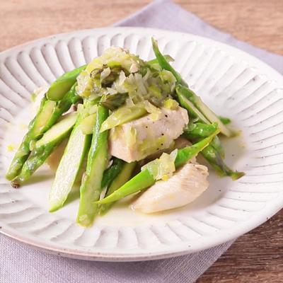 常備菜に 鶏むね肉とアスパラのバター炒め