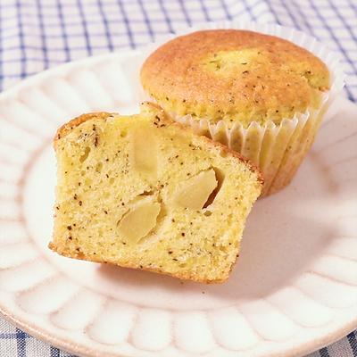 りんごと紅茶のカップケーキ