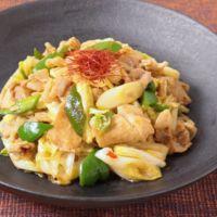 豚ロース肉で作る 白菜と長ねぎの回鍋肉