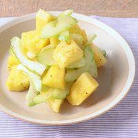 パイナップルとセロリのサラダ