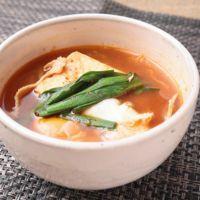 絹豆腐で作るスンドゥブチゲ