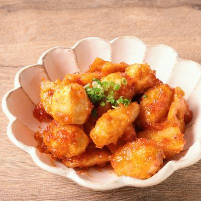 レンコンと里芋のチリソース