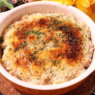 高野豆腐とツナのパン粉焼き