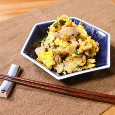ふんわり卵が美味しい!鶏たま大葉焼き
