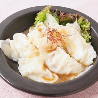 豆腐で つるつる水餃子