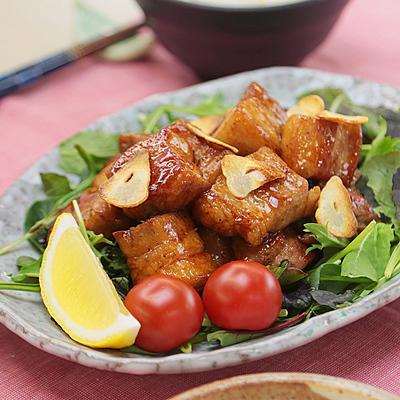 豚バラ肉のレモンガーリック炒め