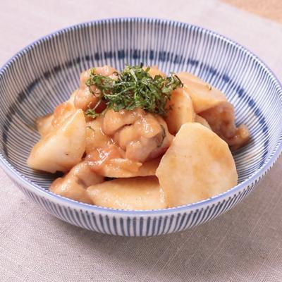 梅風味 鶏肉と長芋の炒め煮