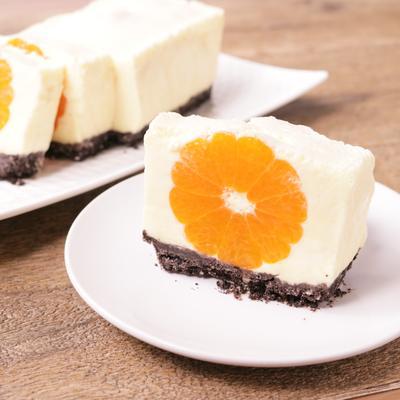 みかんのムースケーキ