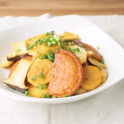 さつま揚げと長芋の炒め物