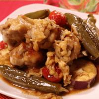 鶏もも肉とサツマイモのゆず胡椒オーブン焼き