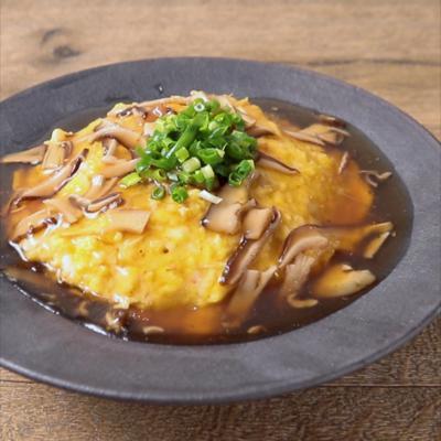 カニ缶で作る天津飯
