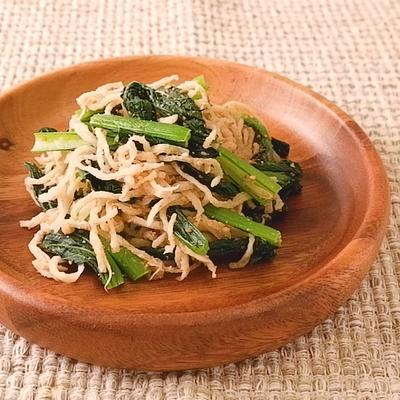 定番おかず 小松菜と切り干し大根の胡麻和え