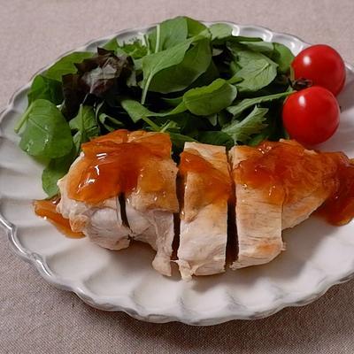 鶏むね肉のマーマレードソースがけ