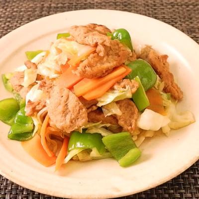 焼肉のタレで簡単 大豆ミートの野菜炒め