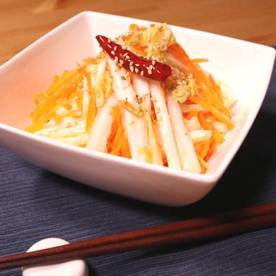 ラーパーツァイ 白菜の中華風ピリ辛甘酢漬け