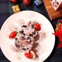混ぜて固めるだけ クリスマスアイスボックスケーキ