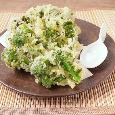 天ぷら粉で簡単に 菜の花の天ぷら