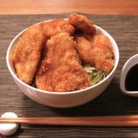 豚ヒレ肉でソースカツ丼