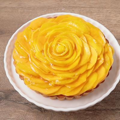 パパイヤとマンゴーのレアチーズケーキ
