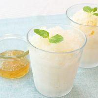 材料2つ!柚子茶で簡単シャーベット!