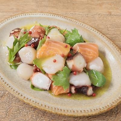 魚介のゆず胡椒のカルパッチョ
