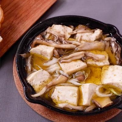 豆腐とねぎの和風アヒージョ
